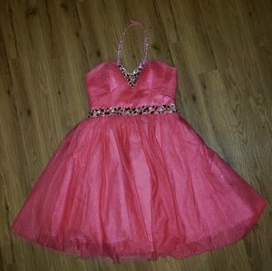 Pink homecoming/prom dress!